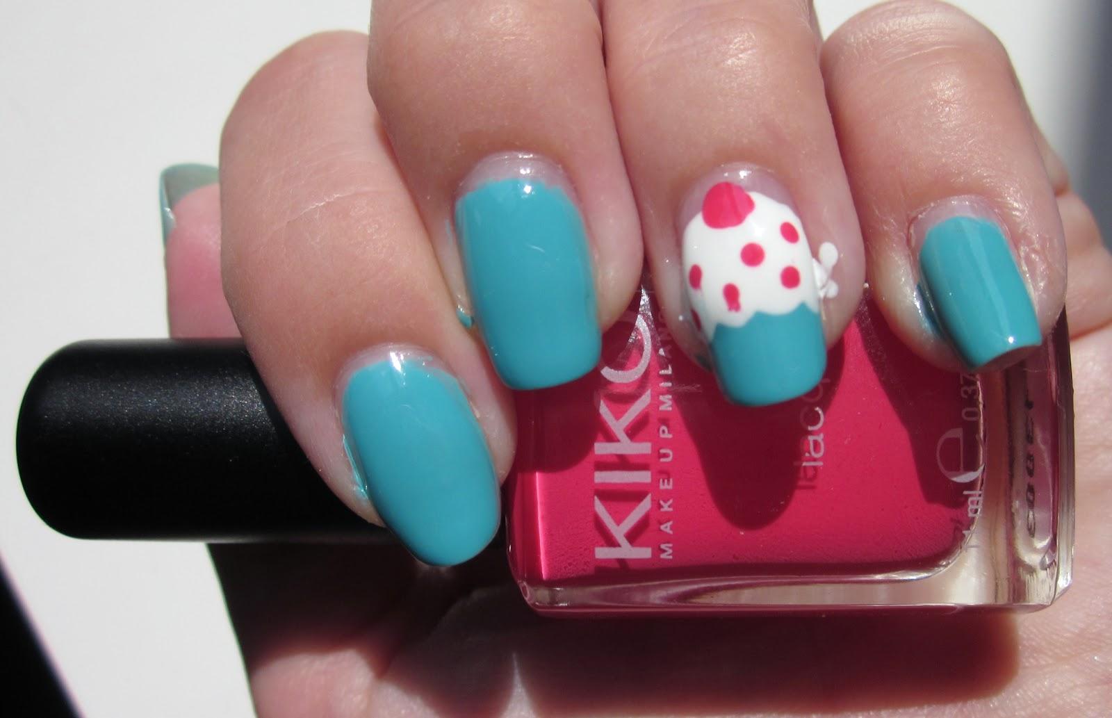 Rose bonbon d butante en nail art d butante en cuisine mon jolie cupcake gr ce a kiko - Nail art debutant ...