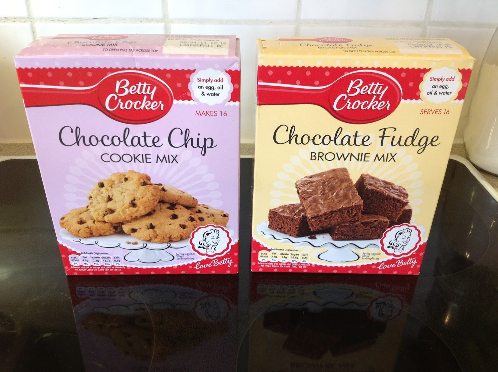 Take your favourite brownie mix and your favourite cookie dough mix .