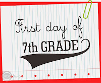 First Day of 7th Grade sign