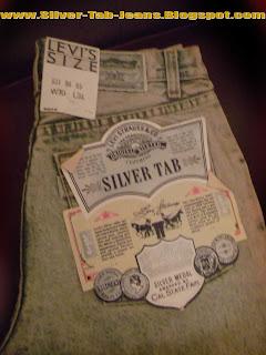 Levis Stonewash silver tabs