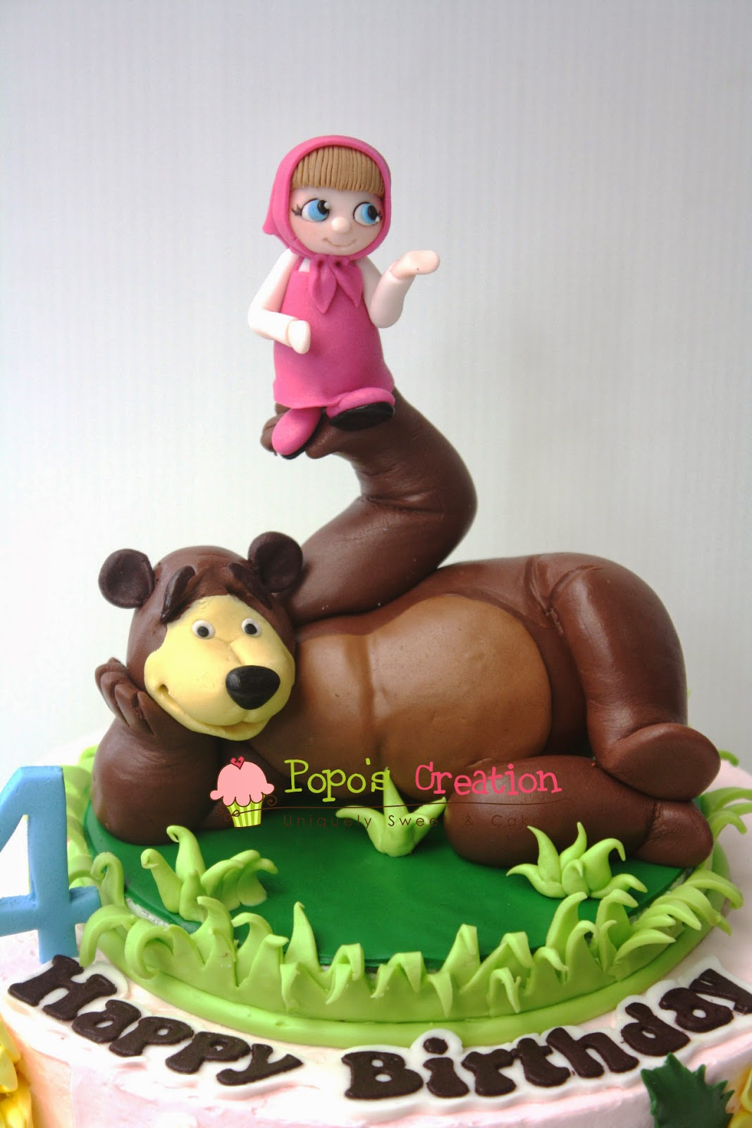 Popos Creation Masha and the Bear Cake