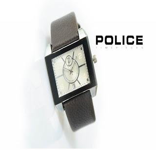 jam tangan keren POLICE PL-2525 BROWN SILVER