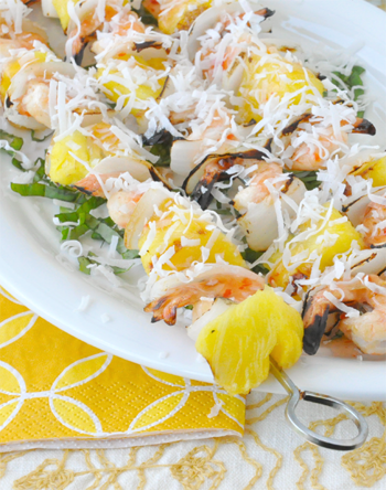Grilled Coconut Shrimp Kebabs
