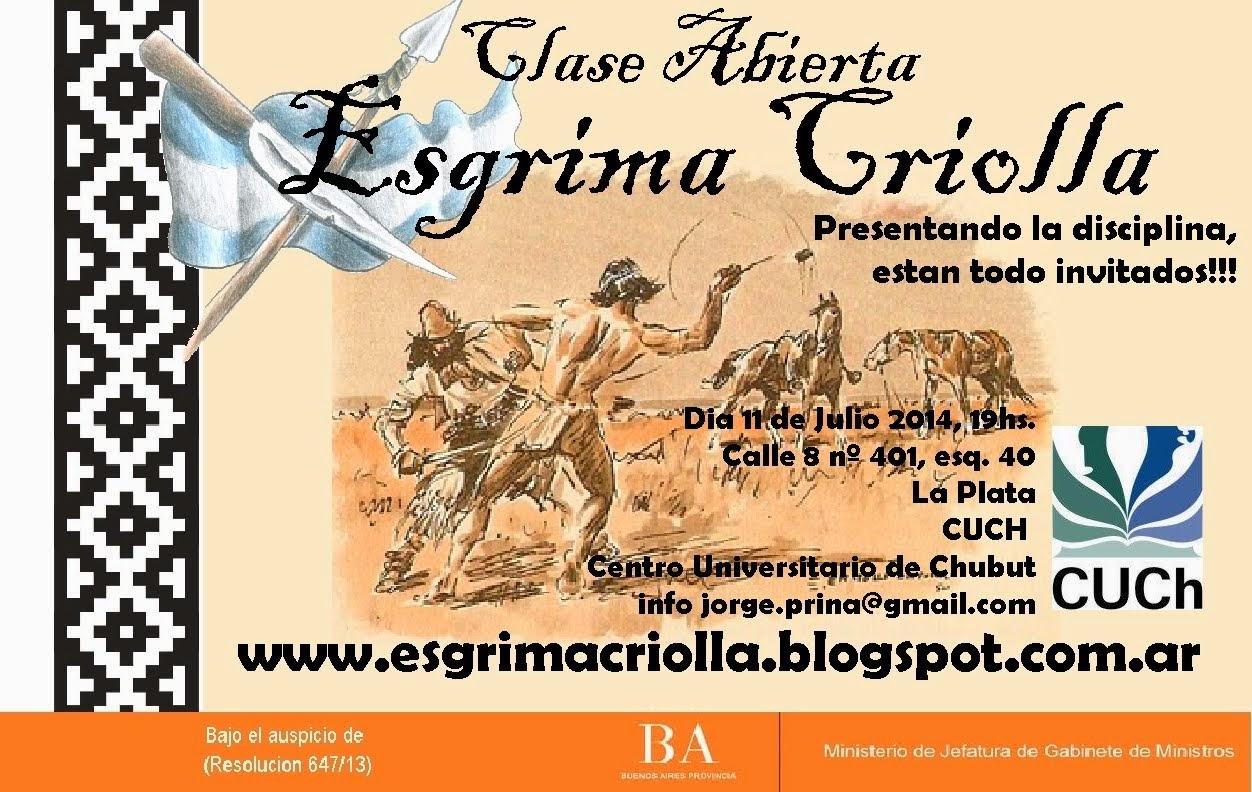 Clase Abierta Esgrima Criolla