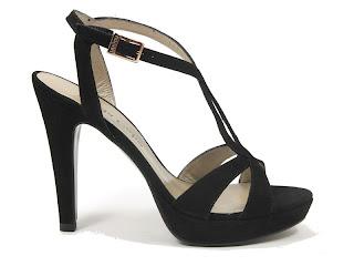 sandalias negras de vestir nuria cobo