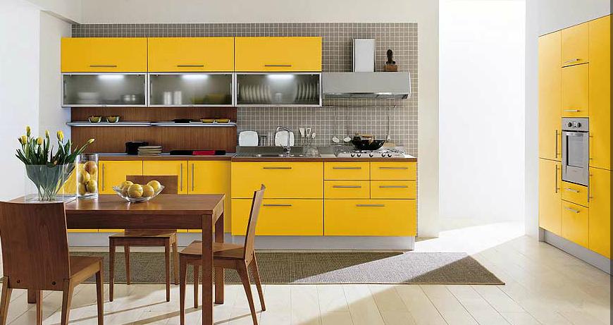 Cocinas lineales para gustos exigentes cocinas con estilo - Cocinas amarillas ...