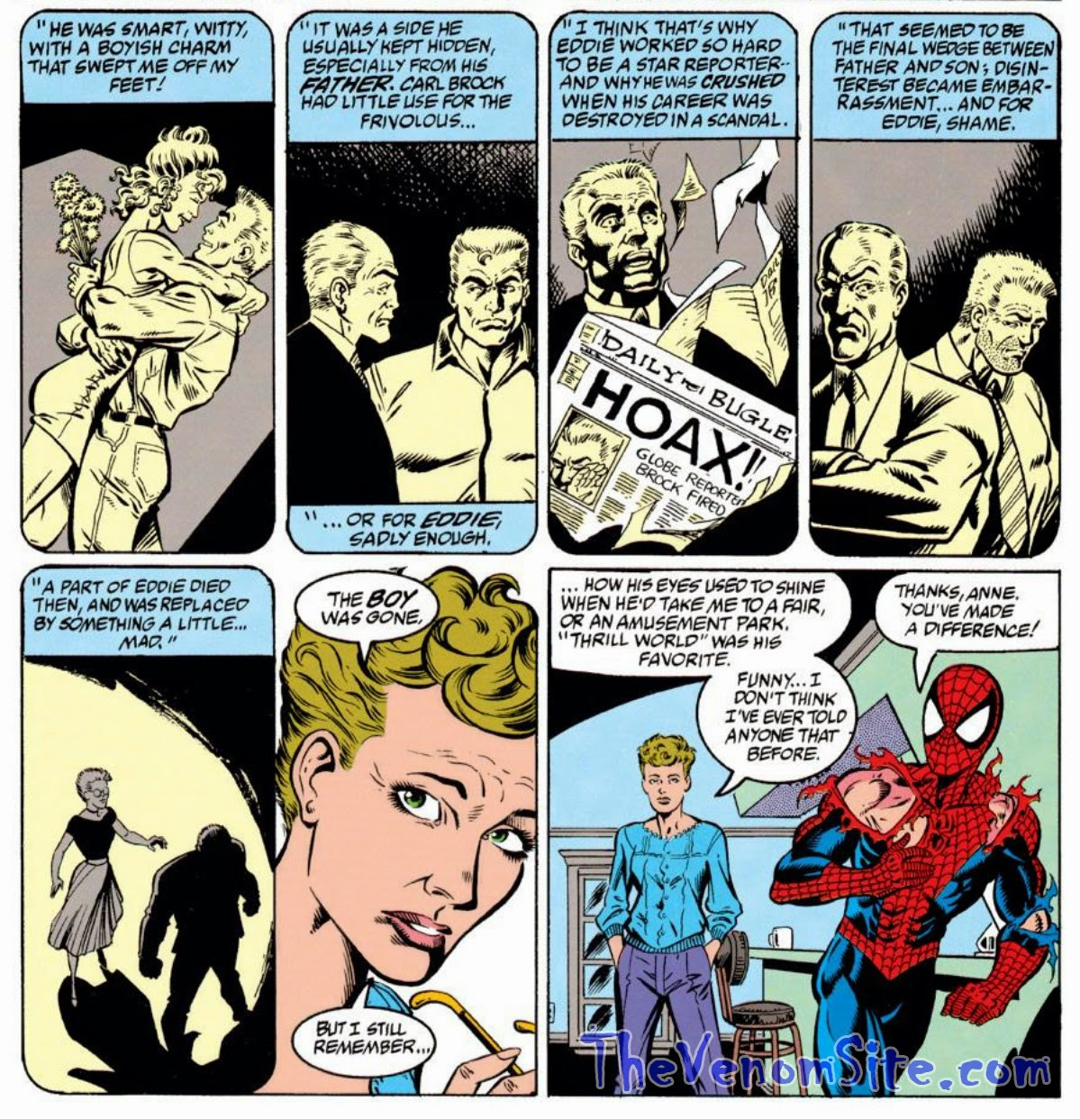 Read Ann Weying's introduction in the pages of Spider-Man: Vengeance of Venom trade paperback available on Amazon