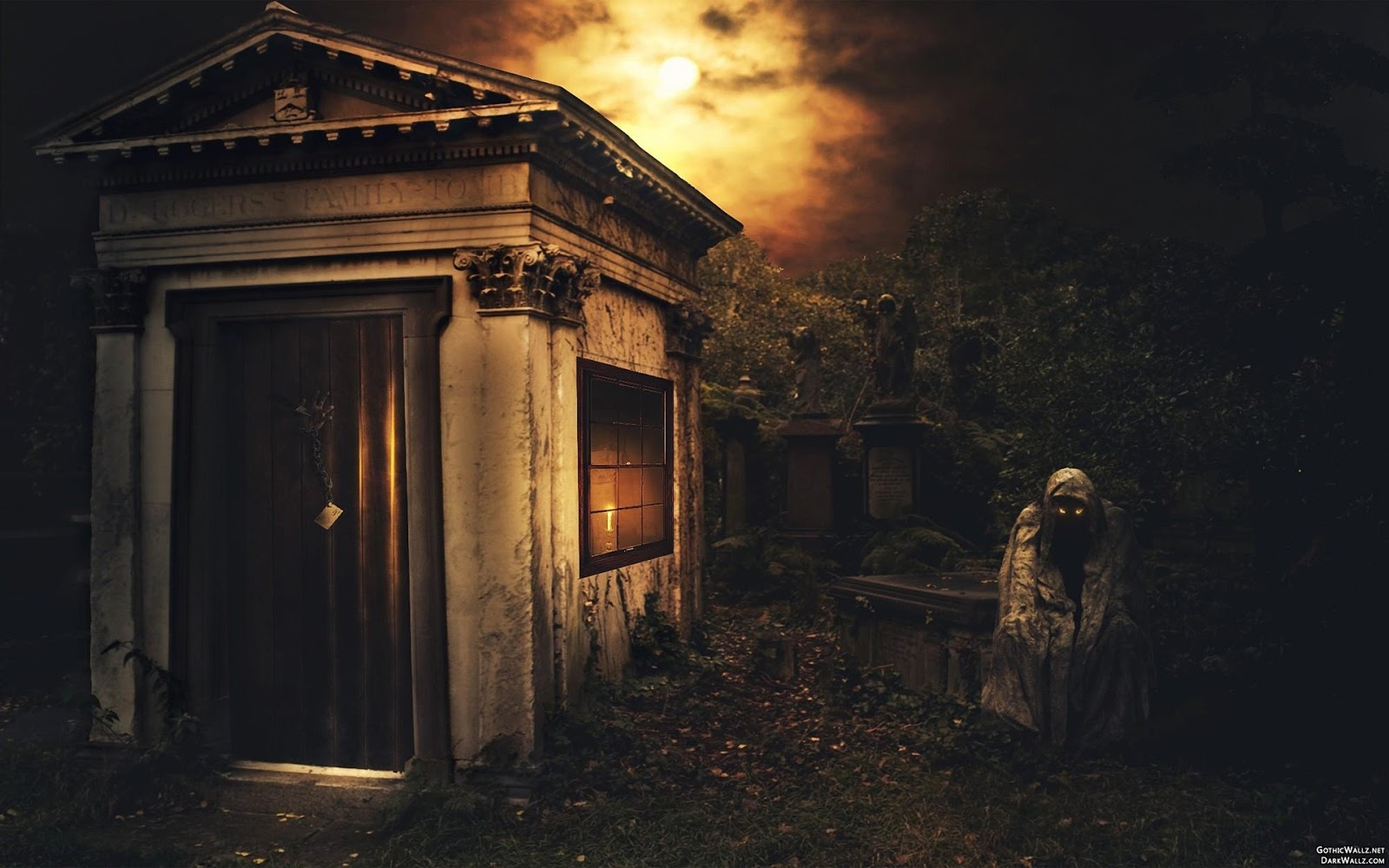 Scary gaurd of dark chamber | Dark Gothic Wallpaper Download