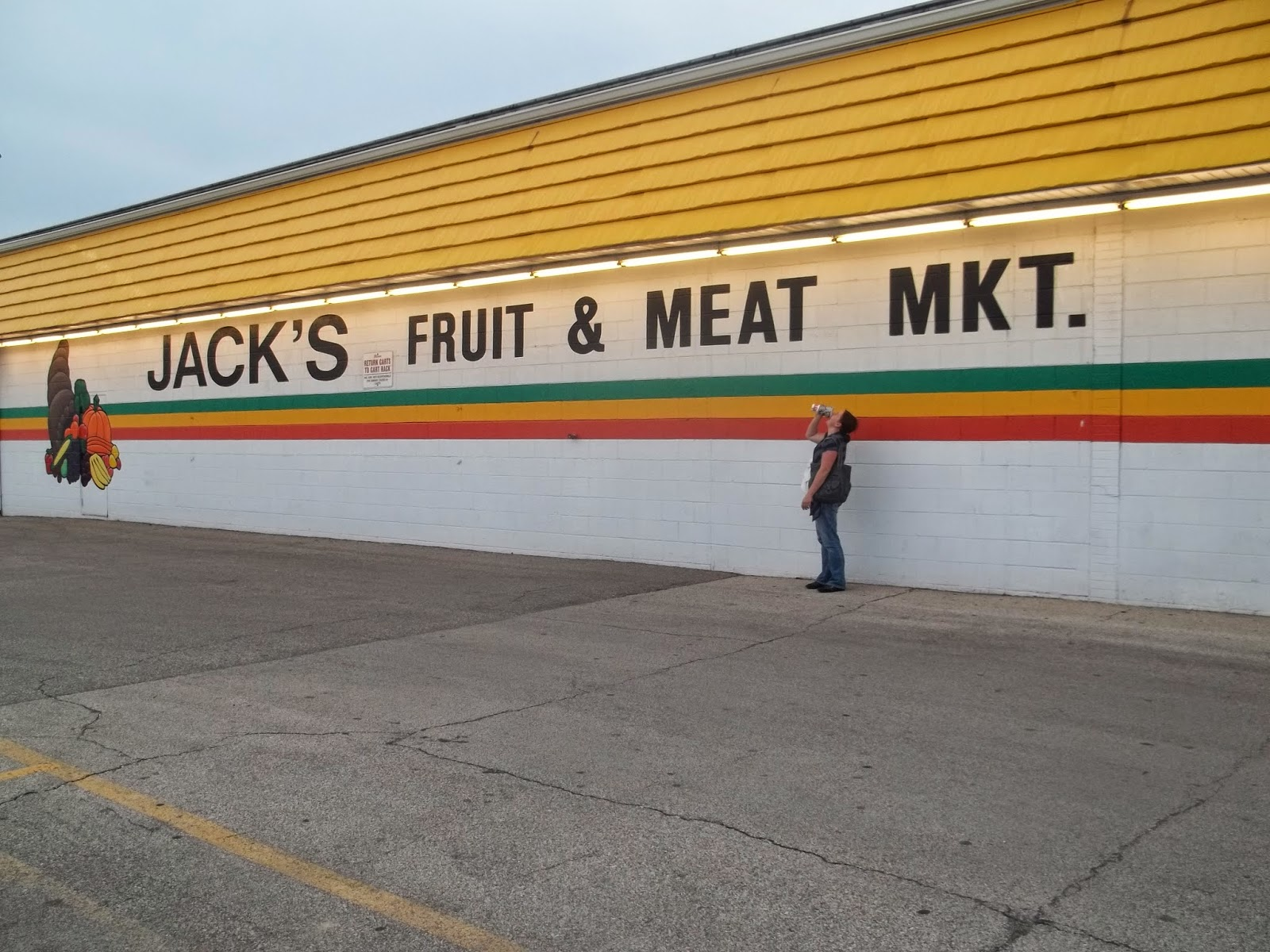 apparently this was a cool grocery store when aaron was there