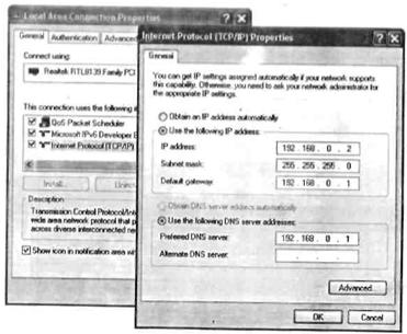 Setting IP address pada workstation