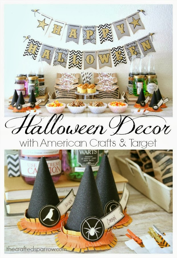 Halloween Decor with American Crafts &amp Target - American Halloween Decorations