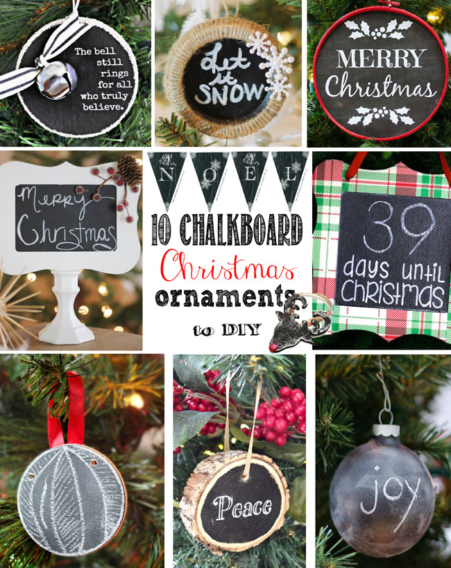 Chalkboard christmas ornaments to diy remodelando la casa