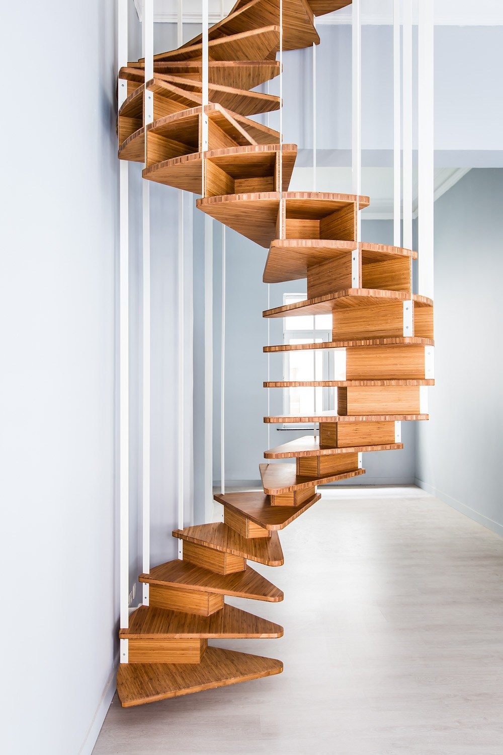 How to build a wooden spiral staircase my staircase gallery for Square spiral staircase plans hall