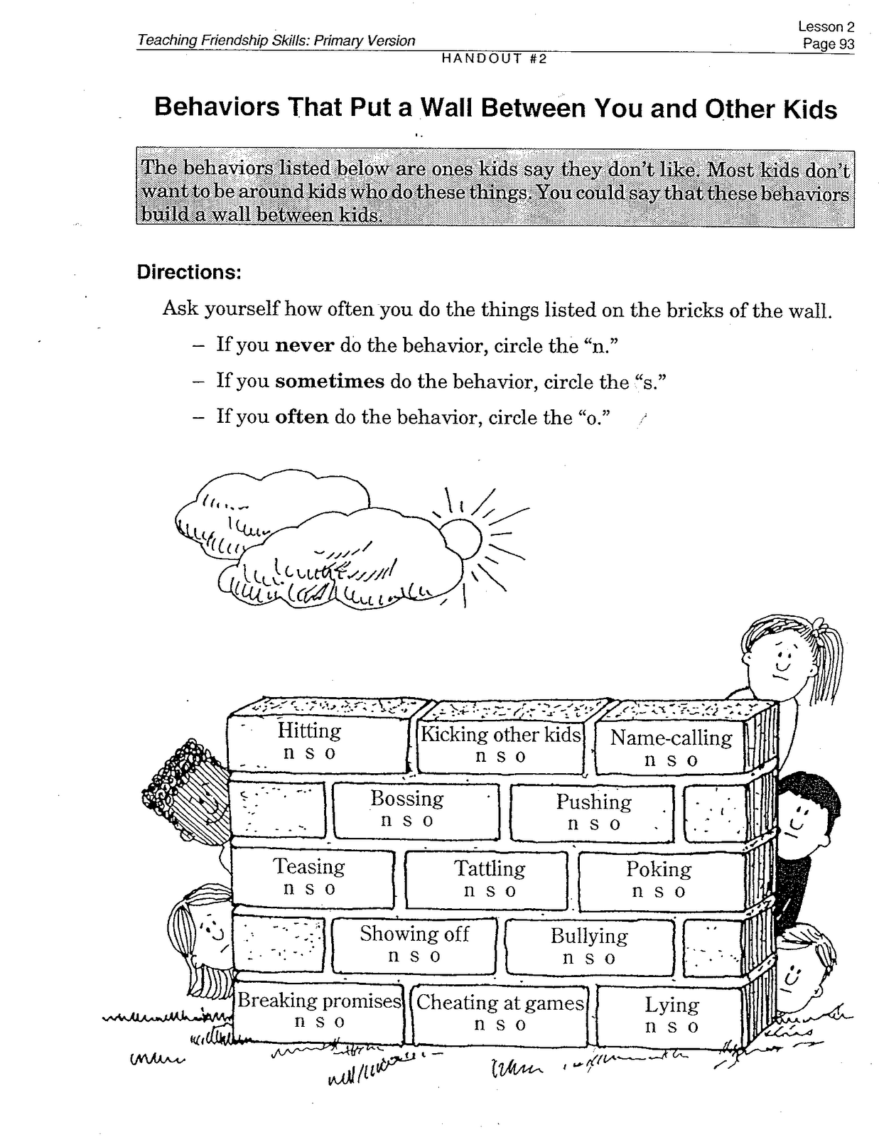 worksheet Bullying Worksheets slow down stop and think bullying behavior contract