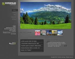 WordPress-Template Fotofolio Landscape