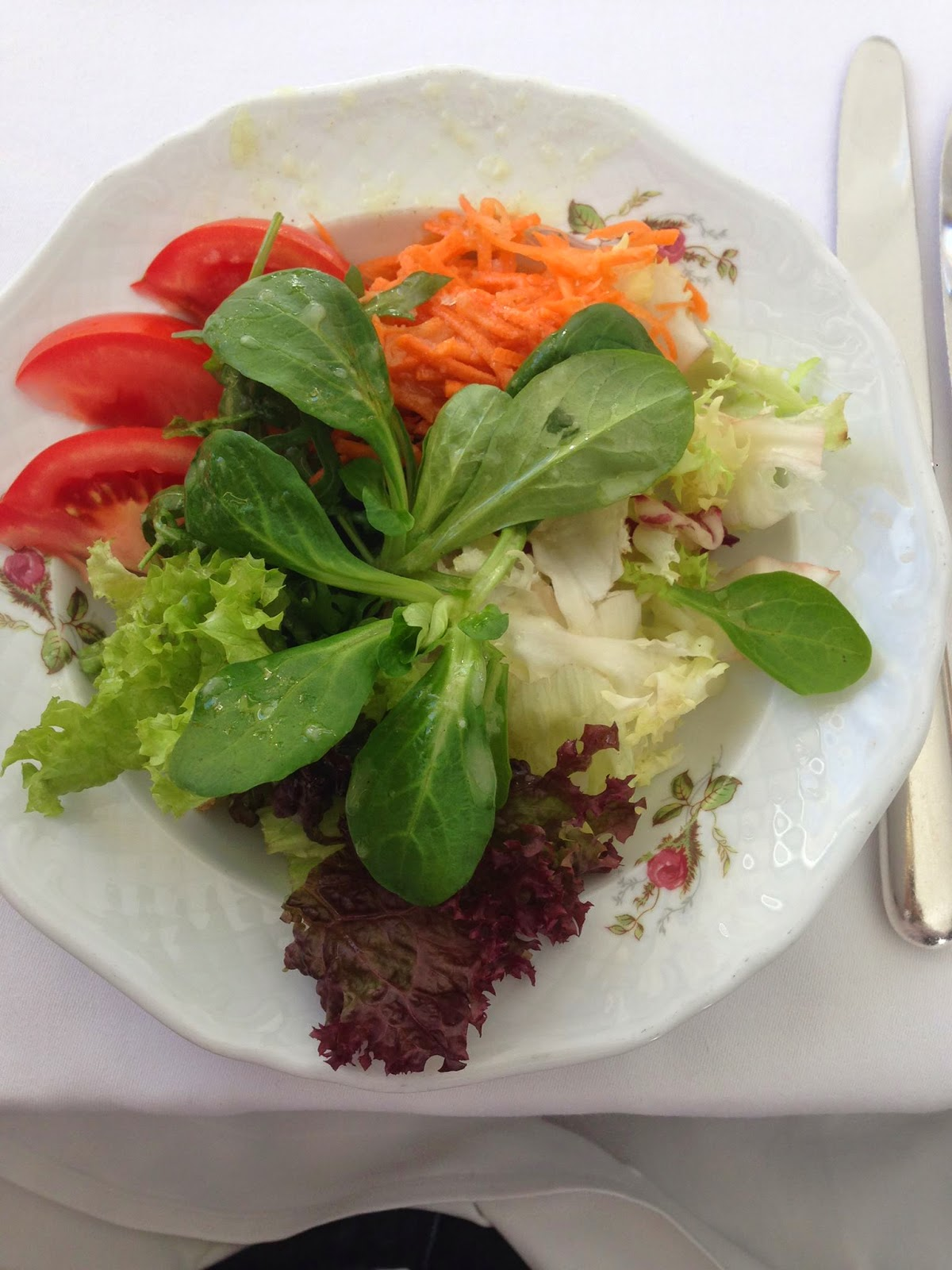 Tasty salad at Waldhaus am See near Lake St.Moritz