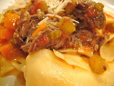 Pot roast pappardelle