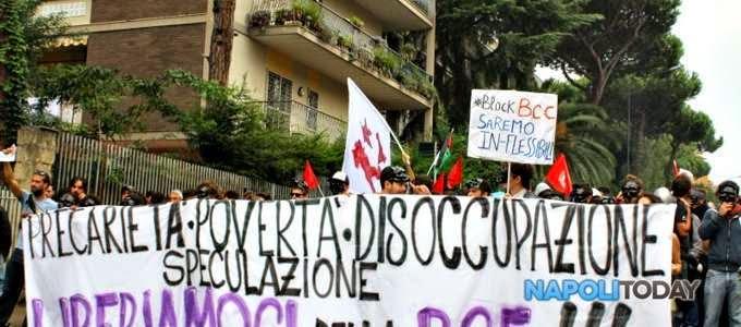 napoli-Block_BCE-disoccupati_precari