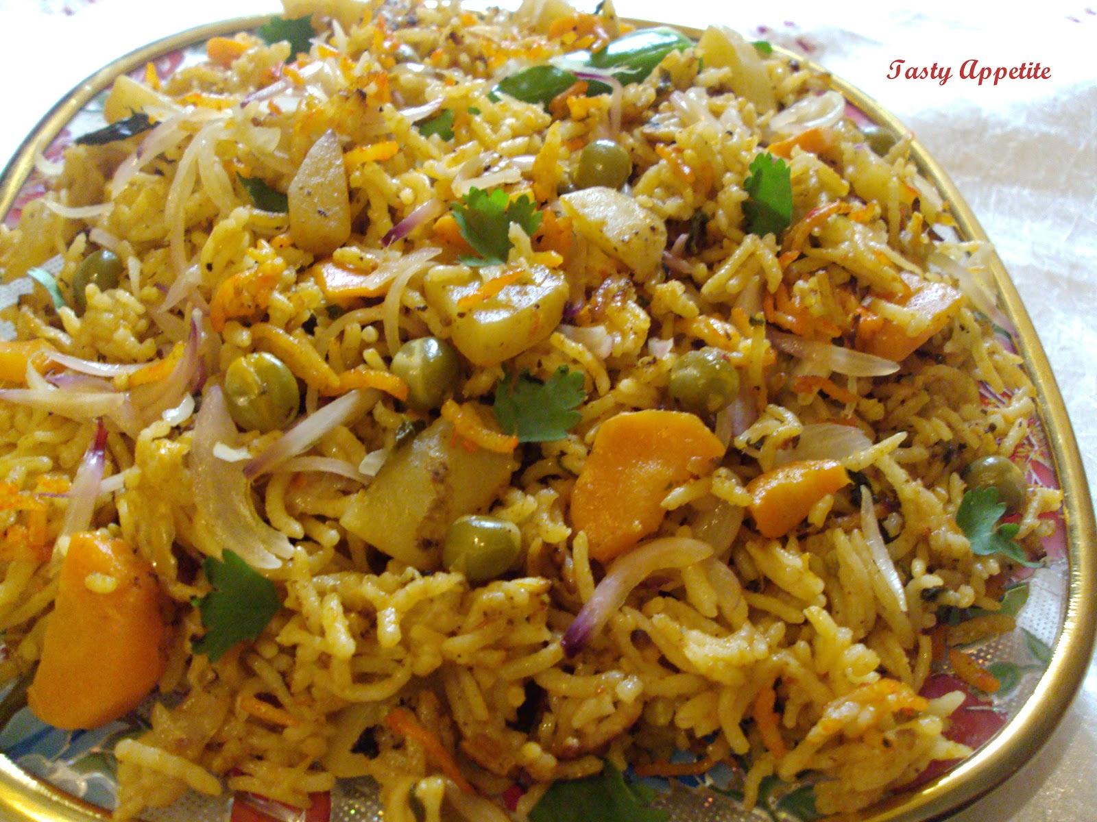 Hyderabadi Veg Dum Biryani: Like us on Youtube formore Video Recipes