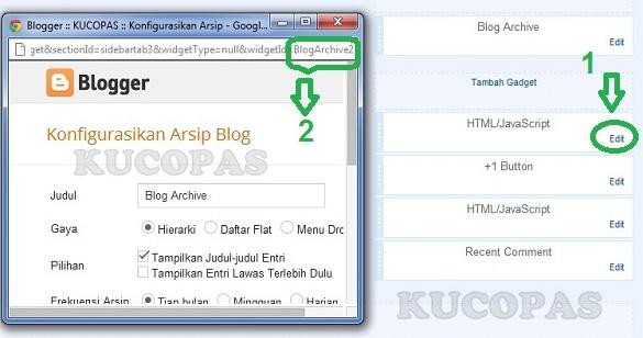 Cara Mengetahui kode id Widget Di Blog