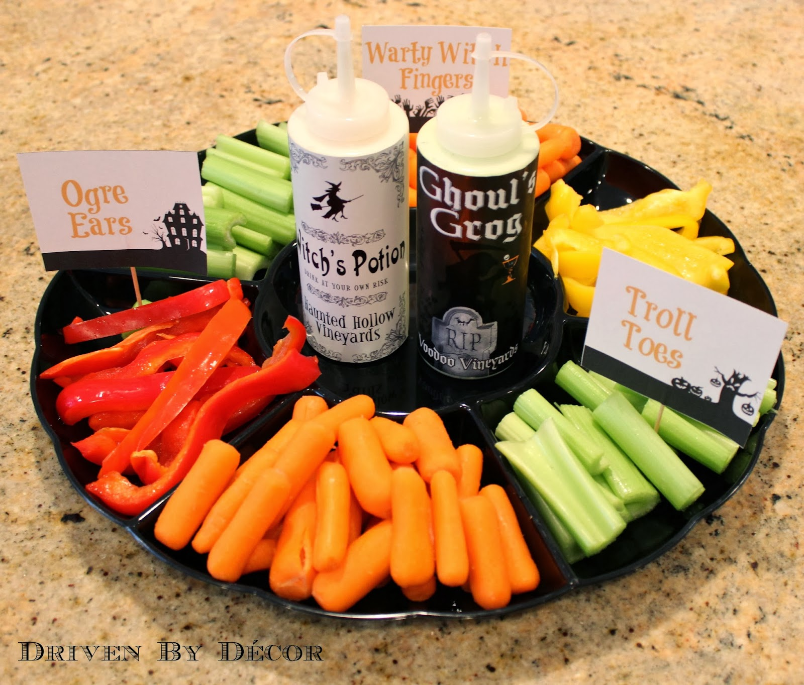 Halloween Vegetable Tray: A Healthy School