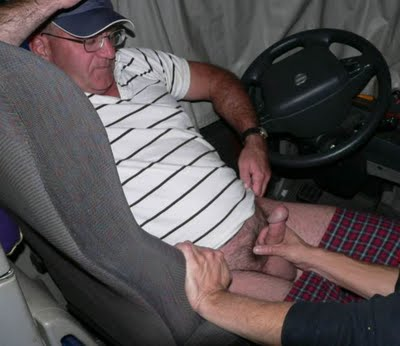 Mature gay trucker