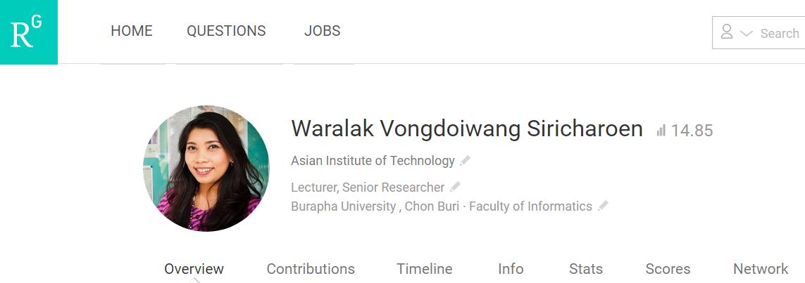 Waralak V. Siricharoen Researchgate