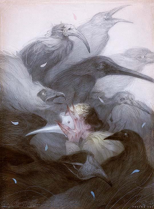 Ilustración, intriga y misterio de Rovina Cai