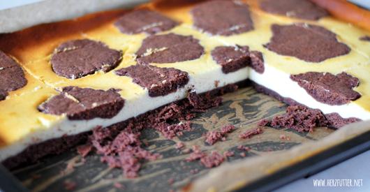 Kuchen mit schokoflecken