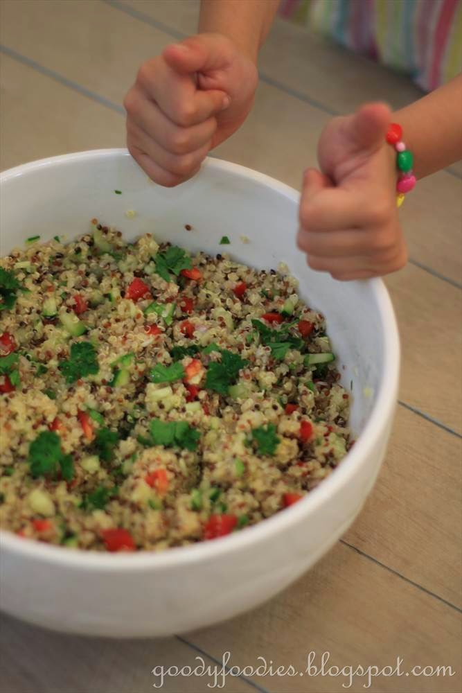 GoodyFoodies: Recipe: Quinoa salad with cucumber, red pepper & fresh ...
