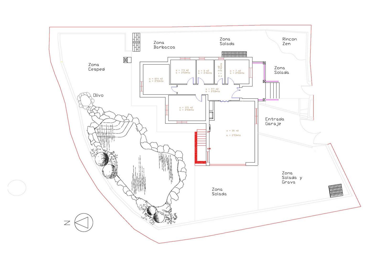Arte y jardiner a proyecto de un jard n acu tico for Planos de jardines