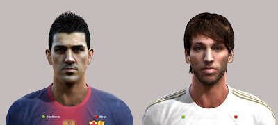 David Villa & Michu Face PES 2013 by djgabrix