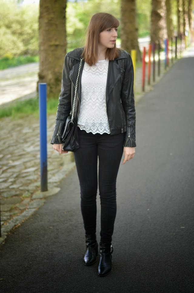 perfecto cuir mode nantes top dentelle h&m