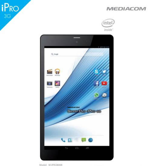 Tablet android Kitkat con processore quad core intel Mediacom M-IPRO800b