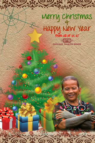 Christmas greeting card from Sarawak Tourism Board