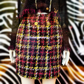 Versace Tweed mini skirt.