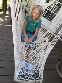 mary swinging in hammock