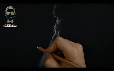 تعلم الرسم على الورق الاسود