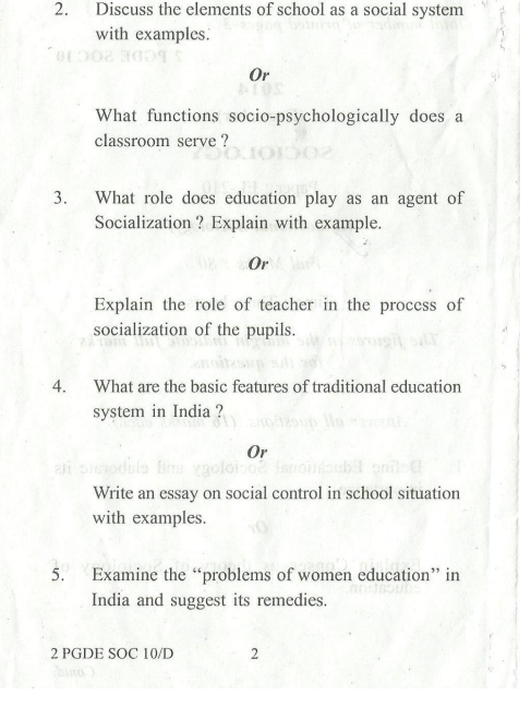 question papers on sociology Question papers for ba sociology 2nd year (syba) university of pune you can further filter question papers by subjects and years shaalaacom is a great source for past years question papers of all subjects for practice.