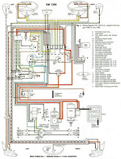 auto wiring diagram  1966 vw beetle 1300 wiring diagram