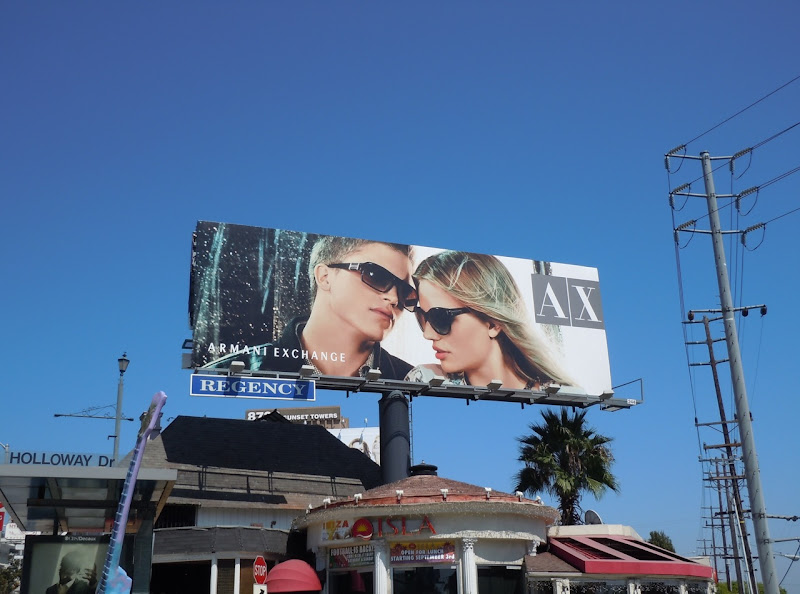 Armani Exchange sunglasses billboard
