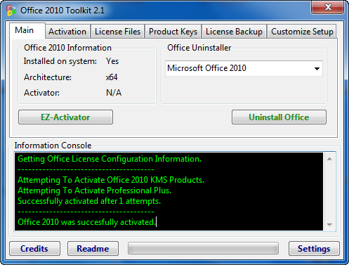 Activator Microsoft Office Pro 2010 Toolkit