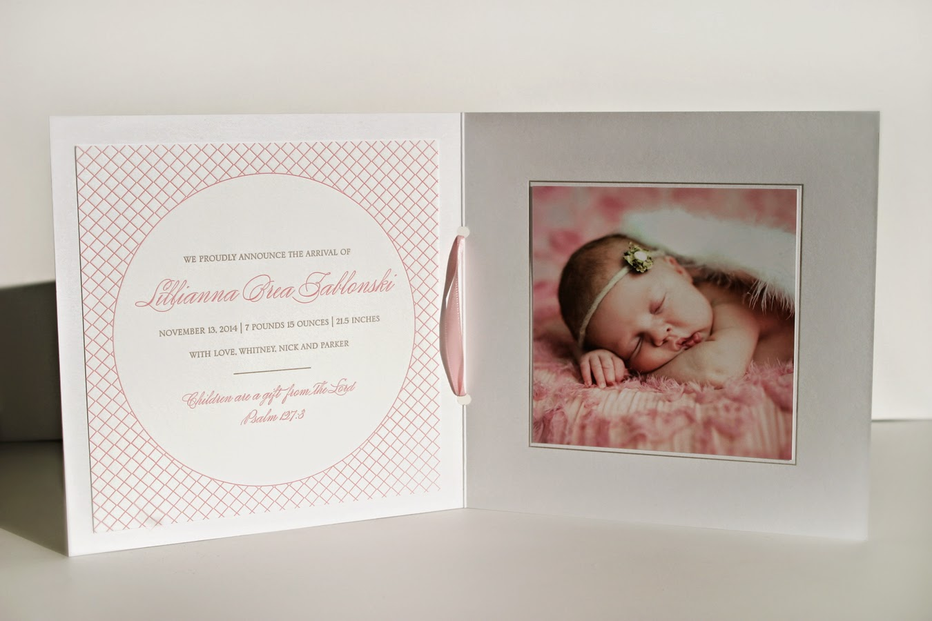 Birth Announcement Letterpress book