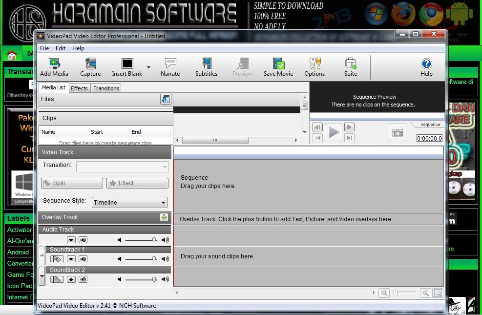 Download Videopad Video Editor Professional 2.41 Full + Keygen