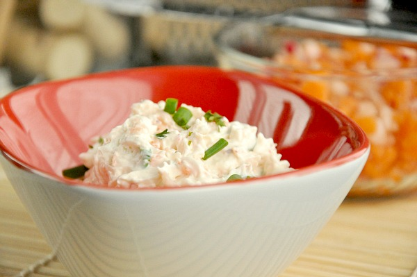 homemade veggie vegetable whipped cream cheese spread