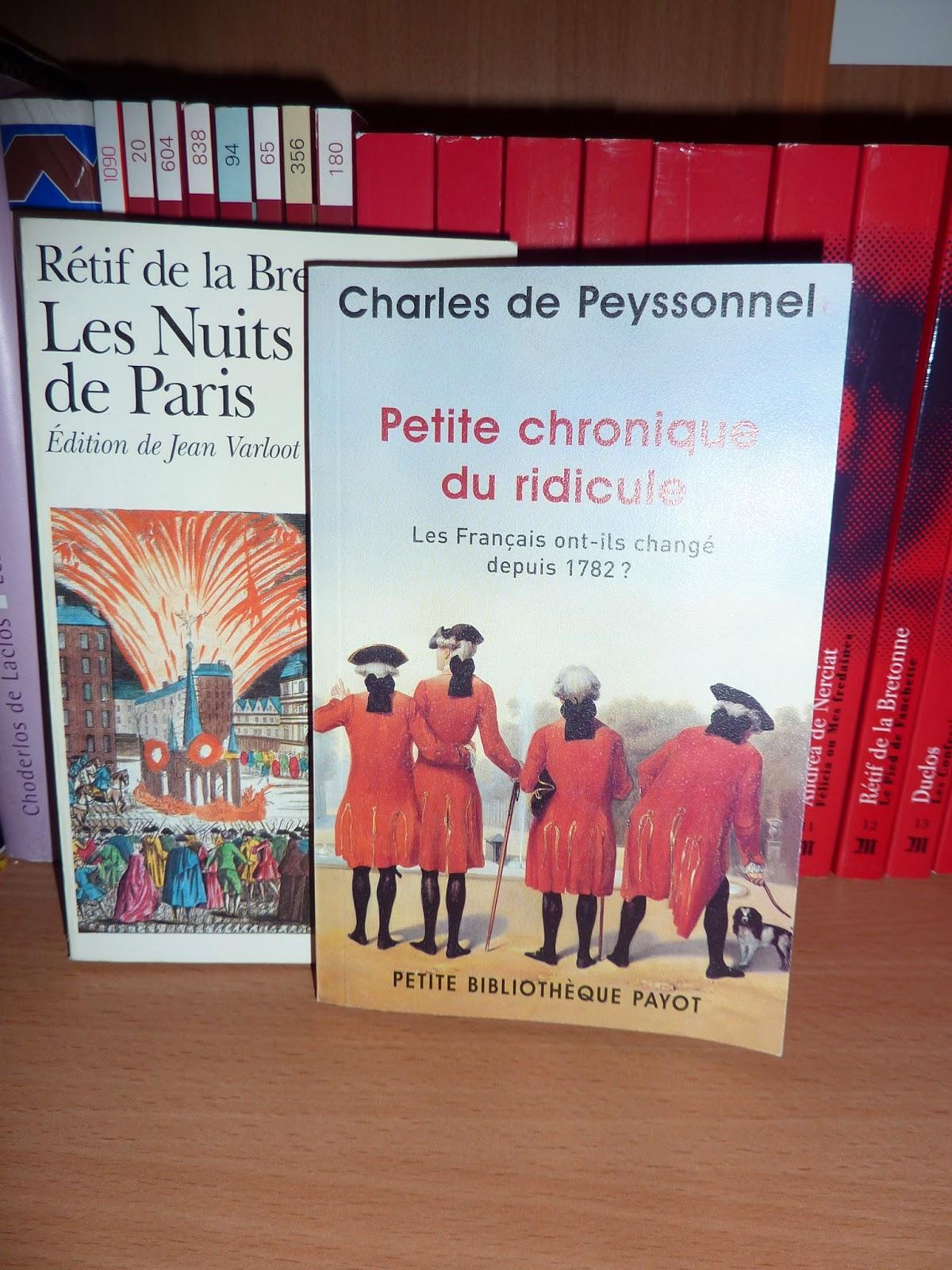 Petite chronique du ridicule - Charles de Peyssonnel