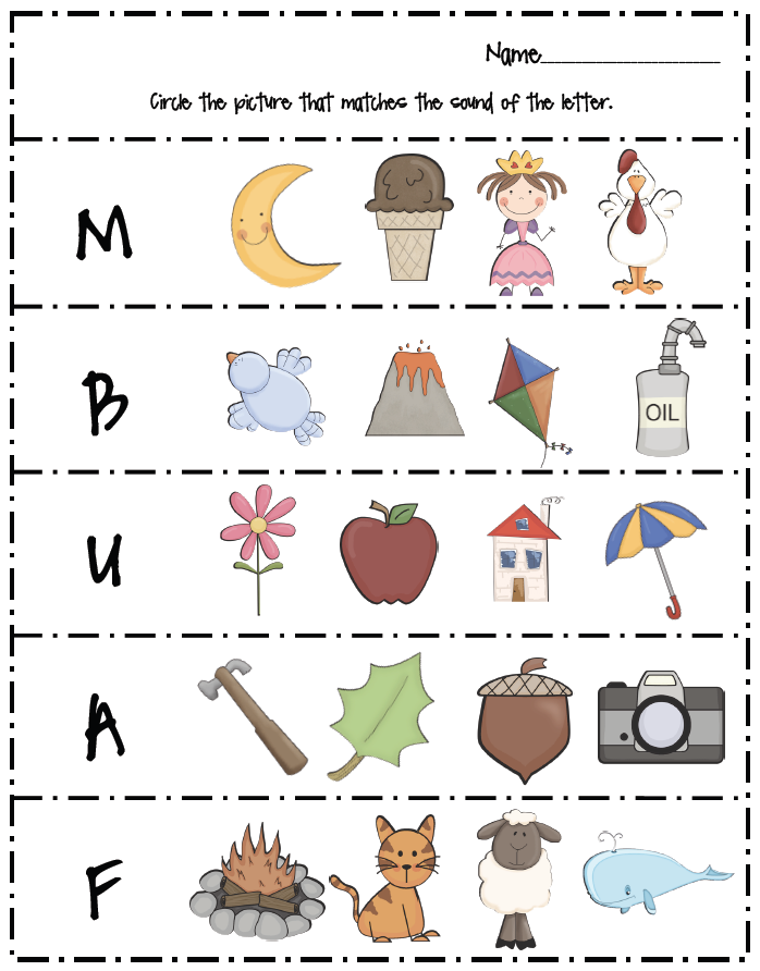 Blending worksheets for 1st graders