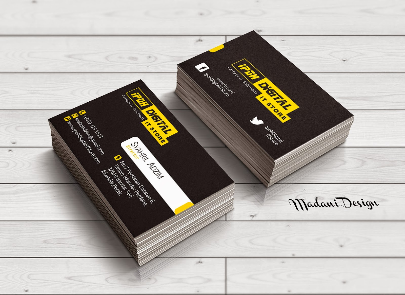 Business card design ipoh digital it store portfolio abbasjj assalamualaikum this company is new and they hire me to do corporate identity design but now i give you business card design first magicingreecefo Choice Image