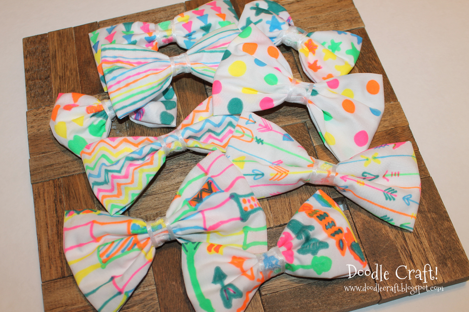 Doodlecraft neon sharpie hair bows hot glue gun week for Arts and crafts for a 1 year old