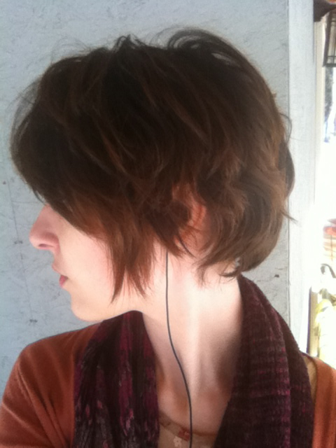growing out pixie cut shaved sides